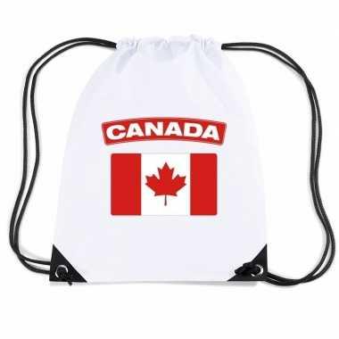 Sporttas met rijgkoord vlag canada
