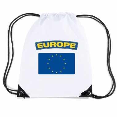 Sporttas met rijgkoord vlag europa