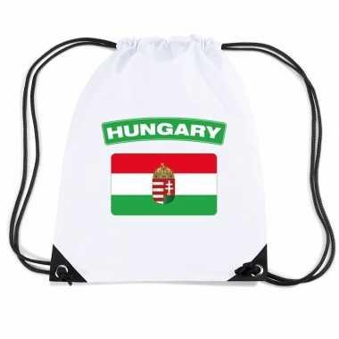 Sporttas met rijgkoord vlag hongarije