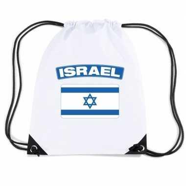 Sporttas met rijgkoord vlag israel