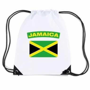 Sporttas met rijgkoord vlag jamaica