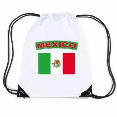 Sporttas met rijgkoord vlag mexico