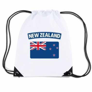 Sporttas met rijgkoord vlag nieuw zeeland