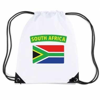 Sporttas met rijgkoord vlag zuid afrika