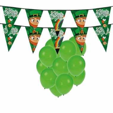 St. patricks day feestartikelen met ballonnen en slingers