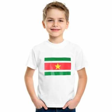 Suriname vlaggen t-shirts voor kinderen