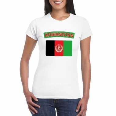 T-shirt wit afghanistan vlag wit dames