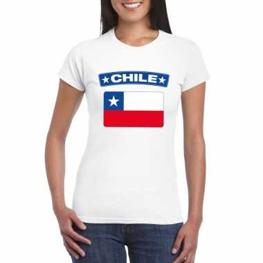 T-shirt wit chili vlag wit dames