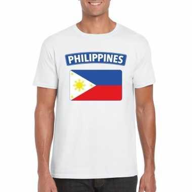 T-shirt wit filipijnen vlag wit heren