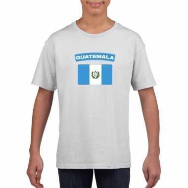 T-shirt wit guatemala vlag wit jongens en meisjes