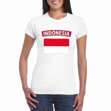 T-shirt wit indonesie vlag wit dames