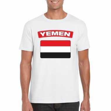 T-shirt wit irak vlag wit heren