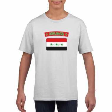 T shirt wit irak vlag wit jongens en meisjes