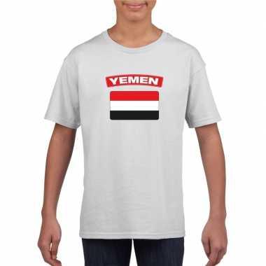 T-shirt wit jemen vlag wit jongens en meisjes
