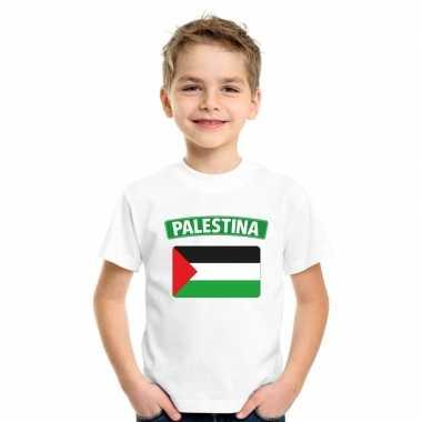 T-shirt wit palestina vlag wit jongens en meisjes