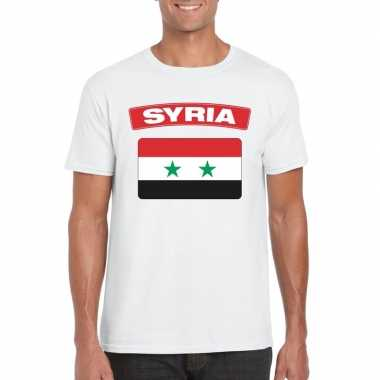 T-shirt wit serie vlag wit heren