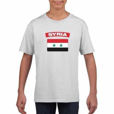 T-shirt wit serie vlag wit jongens en meisjes