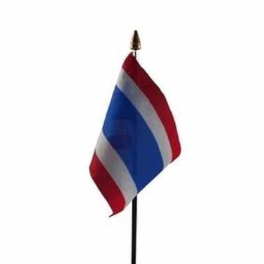 Thailand luxe zwaaivlaggetje polyester