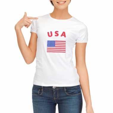 Usa vlaggen t-shirt voor dames