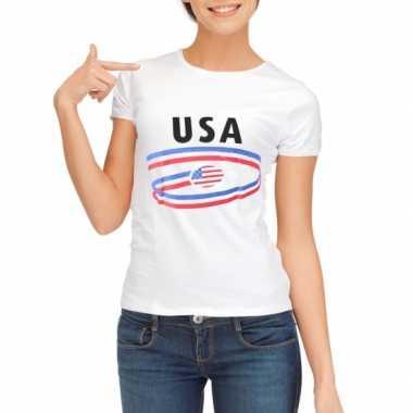 Usa vlaggen t-shirts voor dames