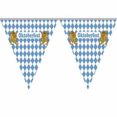 Vlaggenlijn blauw met wit geblokt