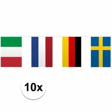 Vlaggenlijn europese landen 10 stuks