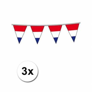 Vlaggenlijn hollandse vlag 3 st