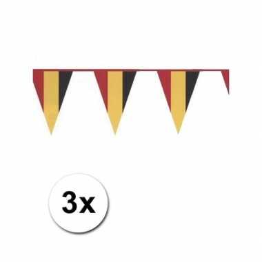 Vlaggenlijn in belgische kleuren 3x