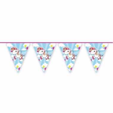 Vlaggenlijnen eenhoorn voor kinder feestje 20 meter