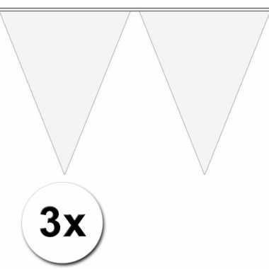 Witte vlaggenlijnen 3 x