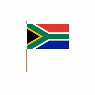 Zuid afrika vlag met houten stok