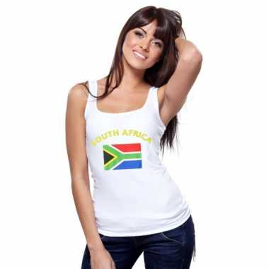 Zuid afrikaanse vlag tanktop / singlet voor dames
