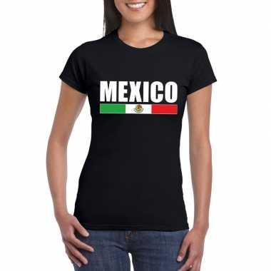 Zwart mexico supporter t-shirt voor dames