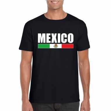 Zwart mexico supporter t-shirt voor heren