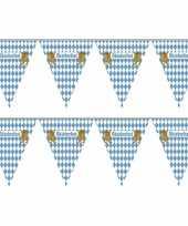 2x vlaggenlijnen oktoberfest van 5 meter