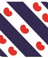 30x bierviltjes friese vlag vierkant