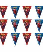 3x marvel spiderman feestartikelen vlaggenlijn 230 cm plastic