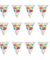 3x stuks happy birthday vlaggenlijn vlaggetjes 10 meter