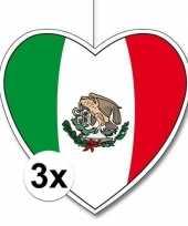 3x thema mexico hangdecoratie hart 28 cm