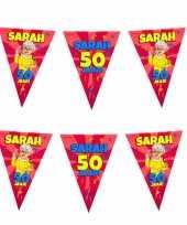 50 sarah party vlaggenlijn cartoon 10 m verjaardag versiering 10260514