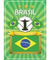 Brazilie deurposter met christus beeld