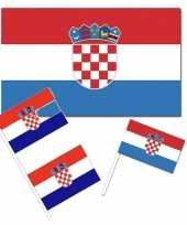Feestartikelen kroati versiering pakket