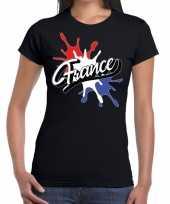 France frankrijk t-shirt spetter zwart voor dames