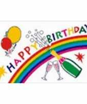 Gekleurde verjaardag vlag happy birthday