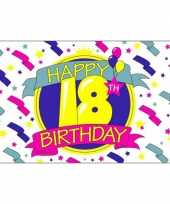 Happy birthday vlaggen 18 jaar