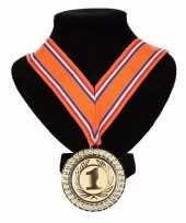 Holland medaille nr 1 halslint oranje rood wit blauw