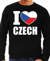 I love czech sweater trui zwart voor heren