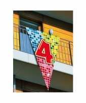 Mega vlag verjaardag 4 jaar