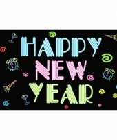 Neon vlag happy new year