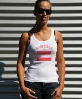 Oostenrijkse vlag tanktop singlet voor dames
